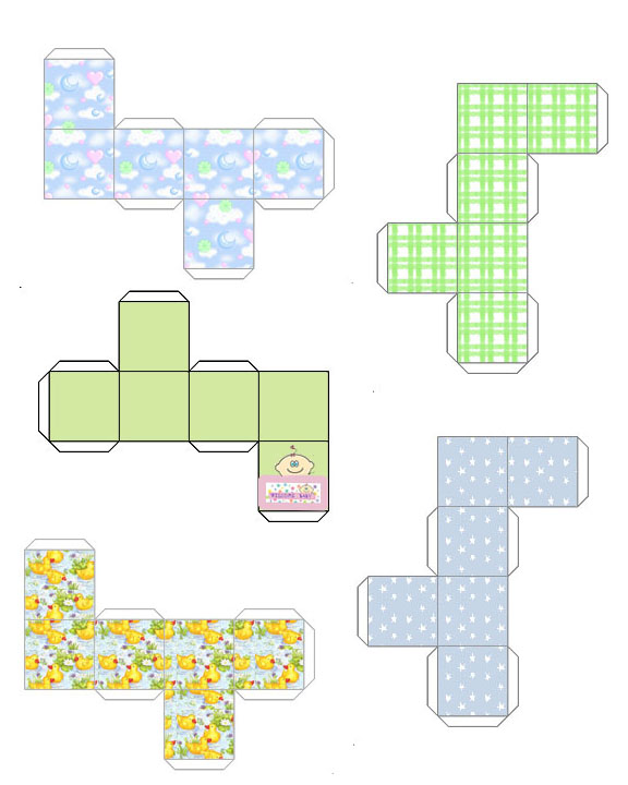 printable miniature square boxes